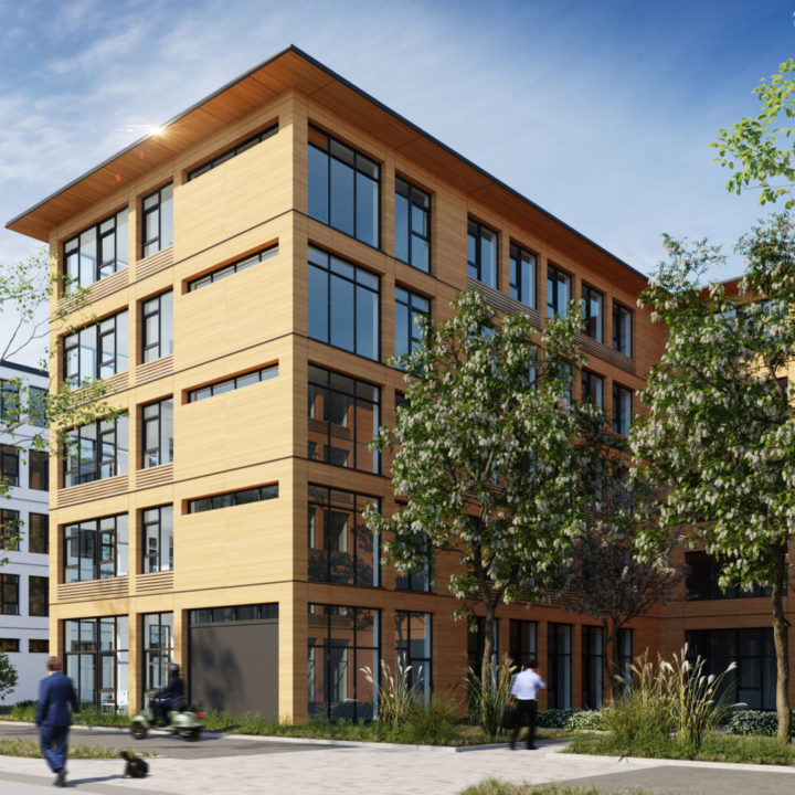 Neubau unseres ersten Bürogebäudes in Holzbauweise in Berlin