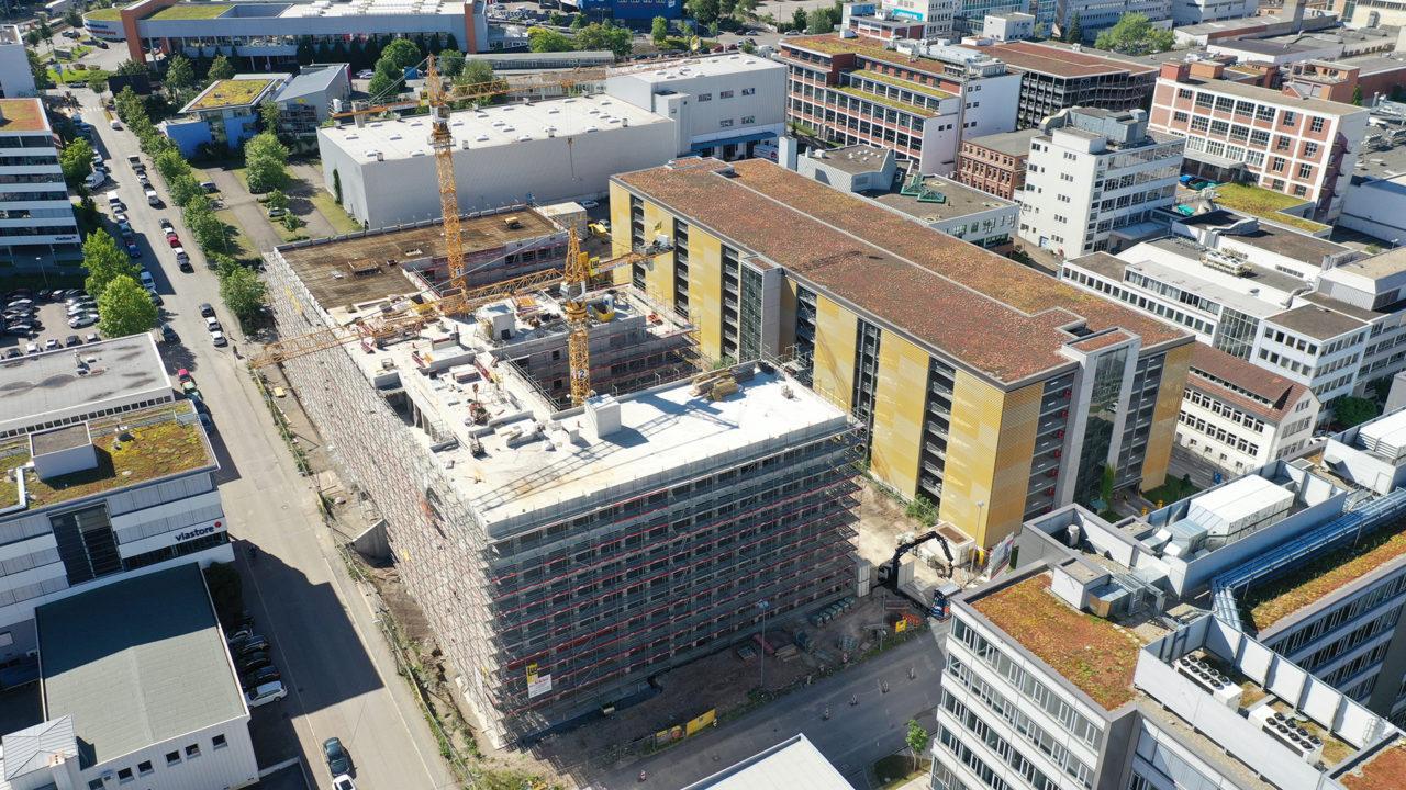 Das TC-2 im Technologiecenter Stuttgart soll im Frühjahr 2021 bezugsfertig sein