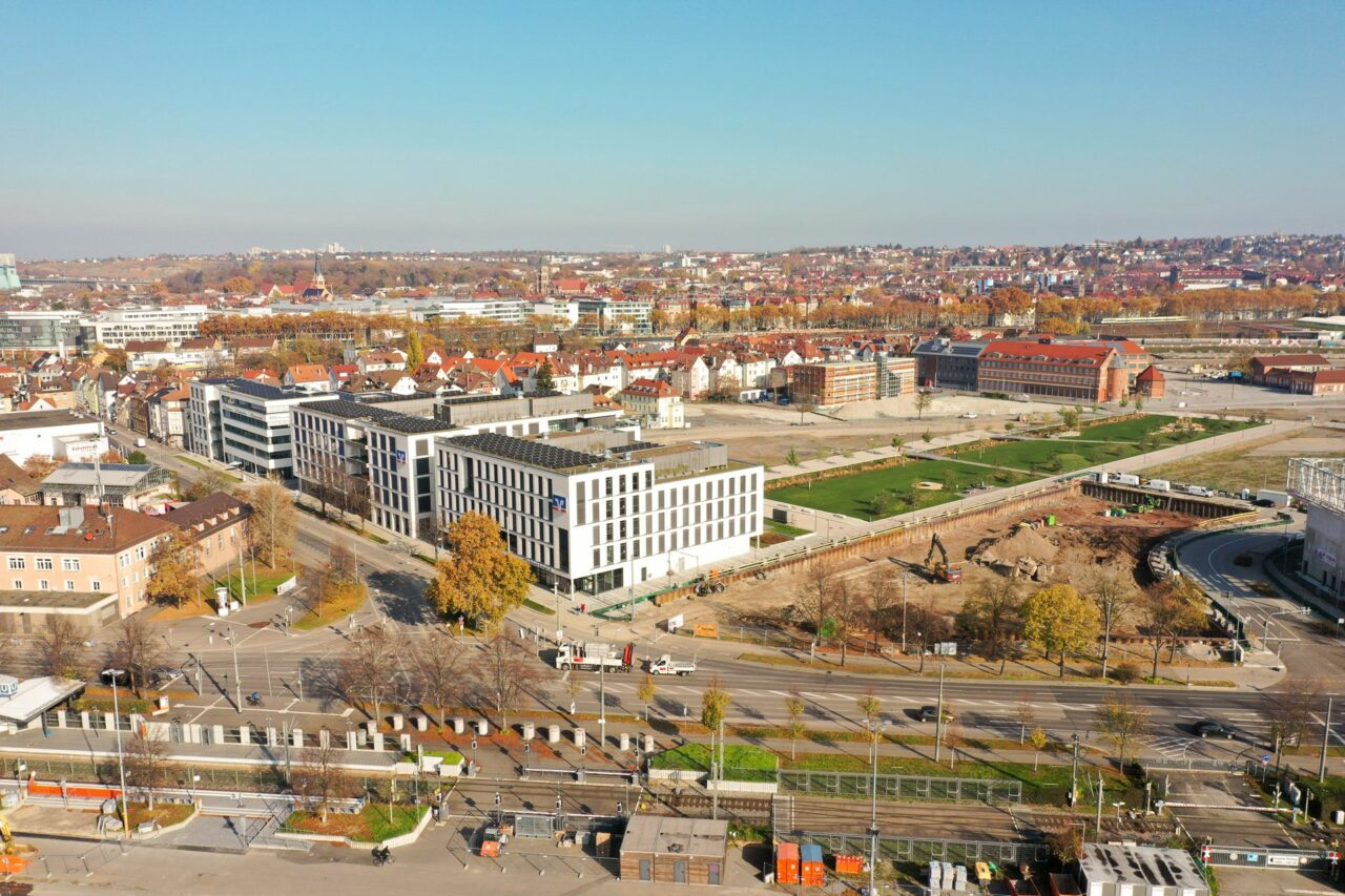 Baubeginn im Stuttgarter NeckarPark Q8